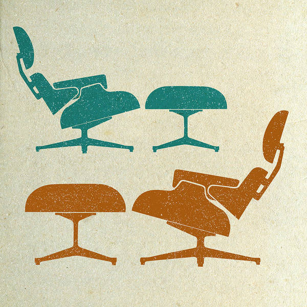 Wall Art - Digital Art - Eames Lounge Chairs II by Naxart Studio