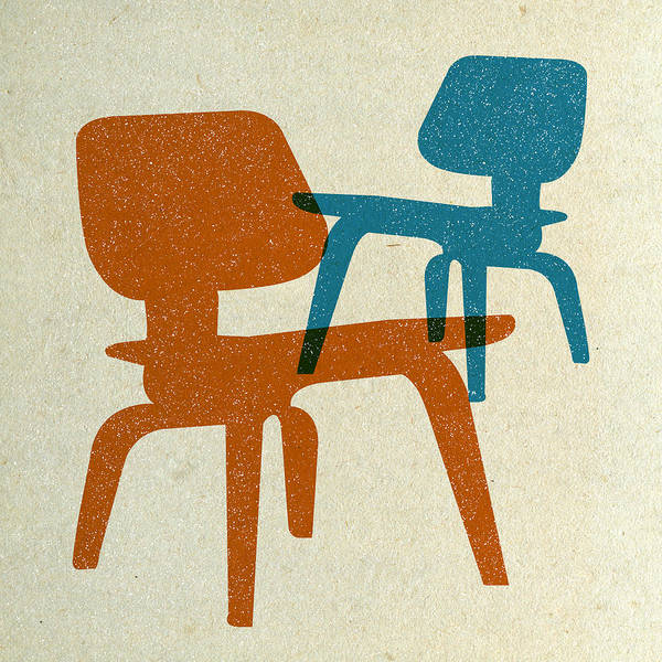 Wall Art - Digital Art - Eames Molded Plywood Chairs I by Naxart Studio