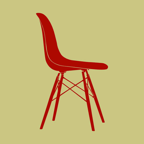 Wall Art - Digital Art - Eames Plastic Side Chair II by Naxart Studio