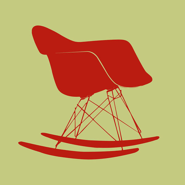 Mixed Media - Eames Rocking Chair by Naxart Studio