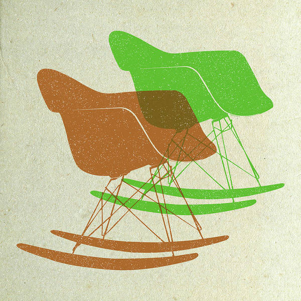 Wall Art - Digital Art - Eames Rocking Chairs I by Naxart Studio