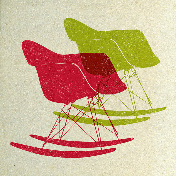 Wall Art - Digital Art - Eames Rocking Chairs II by Naxart Studio