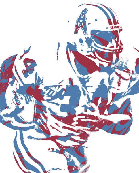 Wall Art - Mixed Media - Earl Campbell Houston Oilers Pixel Art 2 by Joe Hamilton