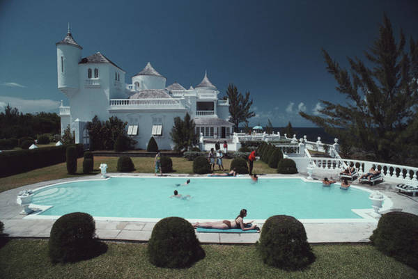 Villa Photograph - Earl Levys Castle by Slim Aarons