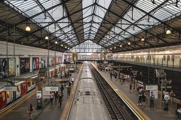 Wall Art - Photograph - Earl's Court Tube Station London  by John McGraw