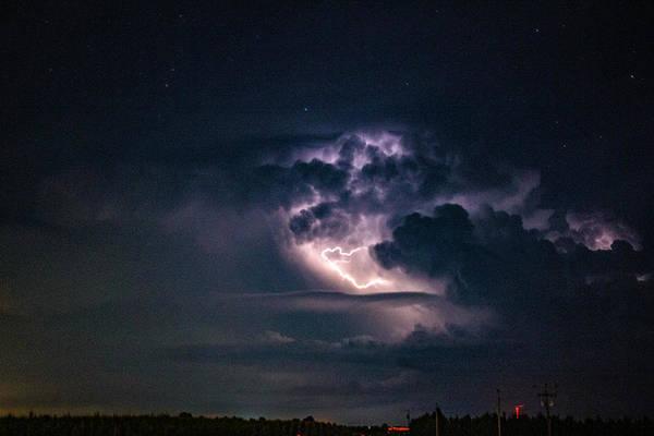 Photograph - Early August Nebraska Lightning 003 by NebraskaSC