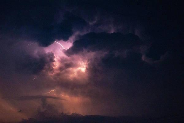 Photograph - Early August Nebraska Lightning 009 by NebraskaSC