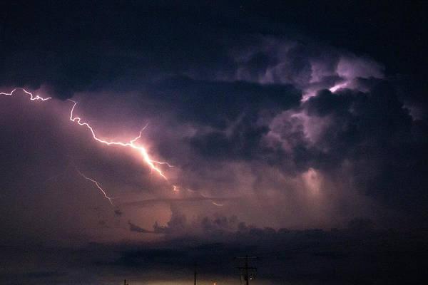 Photograph - Early August Nebraska Lightning 012 by NebraskaSC