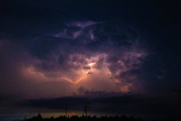 Photograph - Early August Nebraska Lightning 014 by NebraskaSC