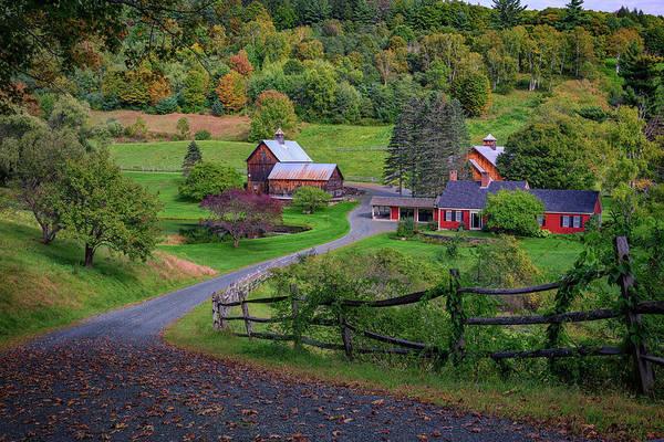 Photograph - Early Autumn At Sleepy Hollow Farm by Rick Berk