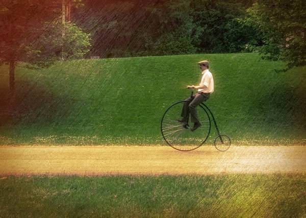 Photograph - Early Bike Rider by Jack Wilson
