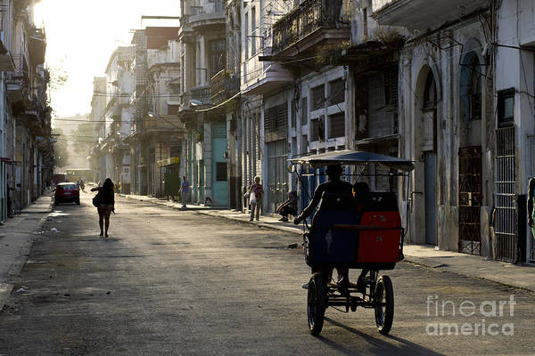 Havana Wall Art - Photograph - Early Morning In The Streets Of Old by Akturer