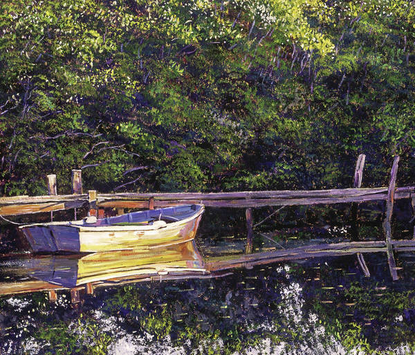 Painting - Early Morning Lake Reflections by David Lloyd Glover