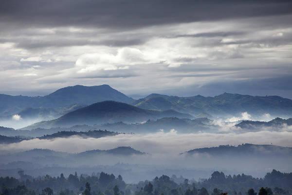 Rwanda Photograph - Early Morning Mist Lying In Valleys by David Cayless