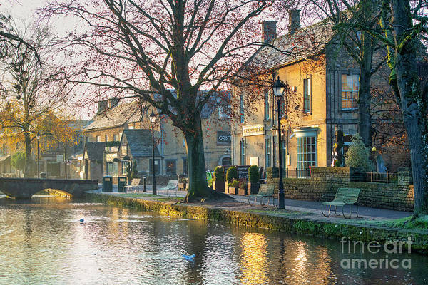 Wall Art - Photograph - Early Morning November Frost Bourton On The Water by Tim Gainey