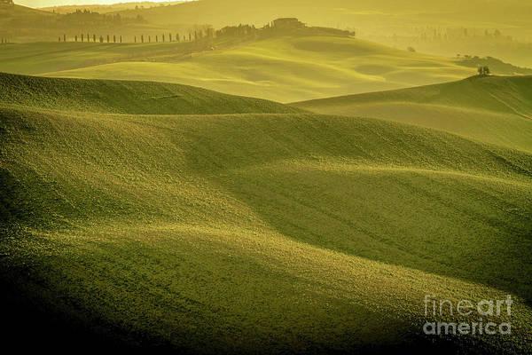 Wall Art - Photograph - Early Morning On Southern Tuscan Farmland by Helga Koehrer-Wagner