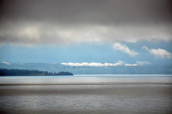 Photograph - Early Morning Yellowstone Lake Vignetting by Bruce Gourley