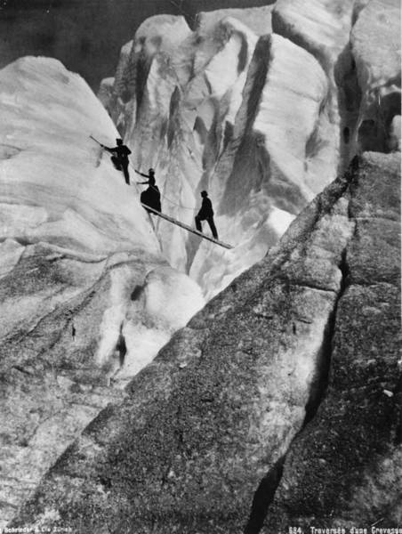Extreme Sport Photograph - Early Mountaineering by Hulton Collection