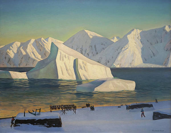 Early November North Greenland Art Print by Rockwell Kent