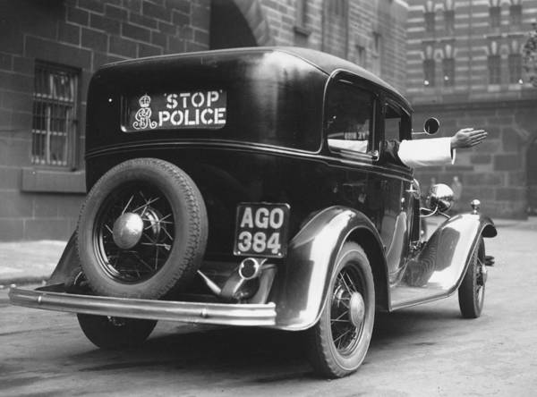 Police Force Photograph - Early Police Car by Topical Press Agency