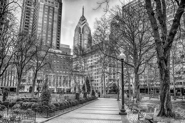 Photograph - Early Spring - Rittenhouse Square In Black And White by Bill Cannon