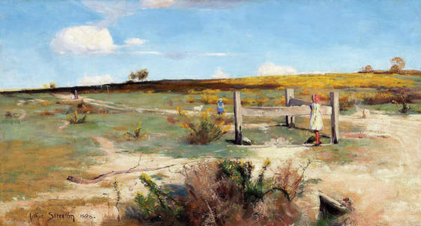 Wall Art - Painting - Early Summer, Gorse In Bloom - Digital Remastered Edition by Arthur Streeton