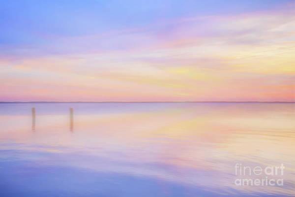 Wall Art - Digital Art - Early Sunset By The Sea by Randy Steele