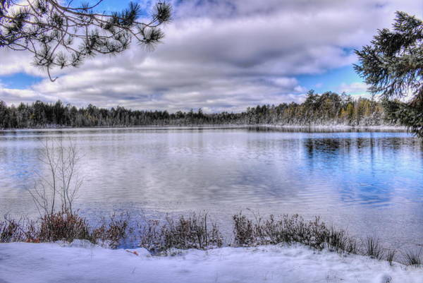 Photograph - Early Winter On Swanson Lake by Dale Kauzlaric