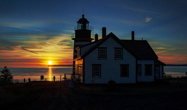 Photograph - Earlybird Onlookers At West Quoddy Head Lighthouse by Marty Saccone
