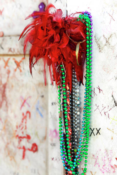 Photograph - Earrings For Marie Laveau At St. Louis Cemetery In New Orleans by John Rizzuto
