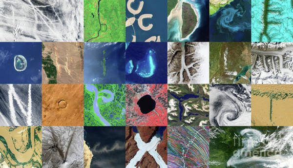 Wall Art - Photograph - Earth Alphabet From Space by Delphimages Photo Creations