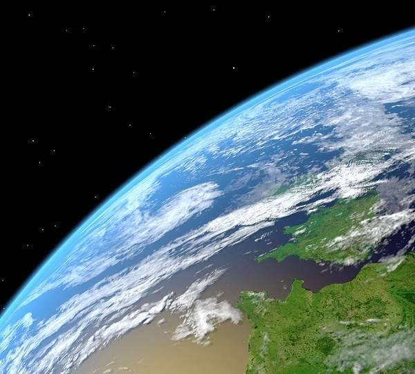 Color Image Digital Art - Earth, Artwork by Roger Harris/spl