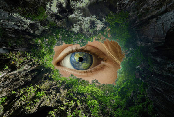 Digital Art - Earth Is Watching You by Alex Mir