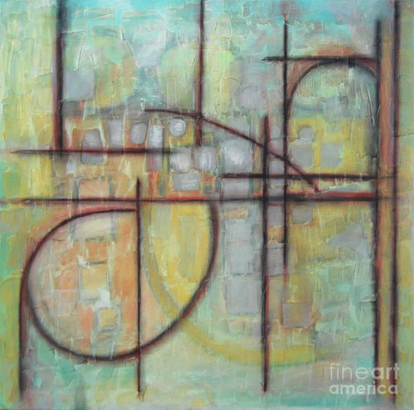 Subtle Painting - Earth / Fibonaucci Two by Rosalyn Stevenson