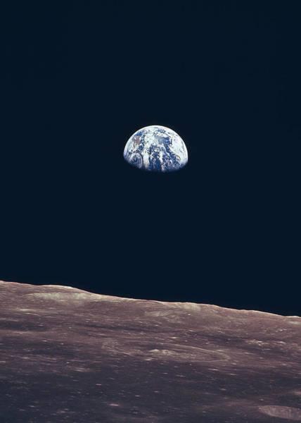 Wall Art - Digital Art - Earth From The Moon by Filip Hellman