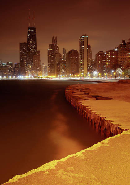 Lakeshore Photograph - Earth Hour From North Avenue Beach by Chris Smith Www.outofchicago.com