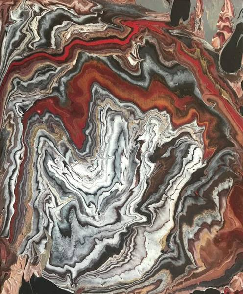 Red Painting - Earth Pour by Christo Botha