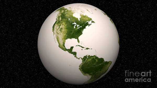 Photograph - Earth Vegetation Patterns by Nasa Noaa