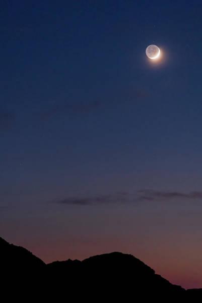 Photograph - Earthshine - Menorca, Spain by Nico Trinkhaus
