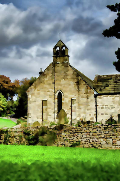 Saint Wall Art - Mixed Media - Easby Church Digital Painting by Smart Aviation