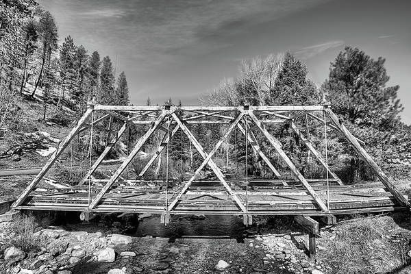 Photograph - East And West Of The Pecos Black And White by JC Findley
