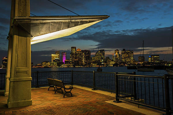 Photograph - East Boston At Dusk The Boston Skyline And Harbor Boston Ma by Toby McGuire