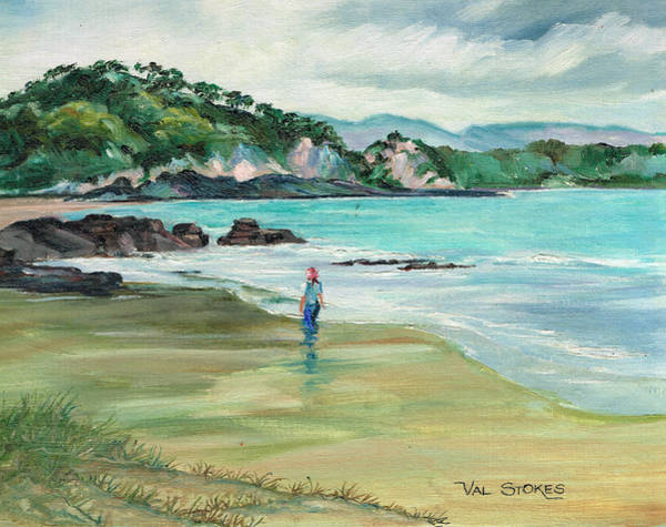 Painting - East Coast Beach--northland Nz by Val Stokes