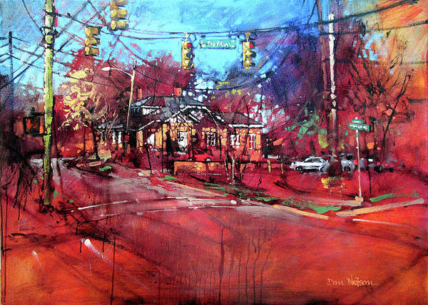 Wall Art - Painting - East Franklin In The Fall by Dan Nelson