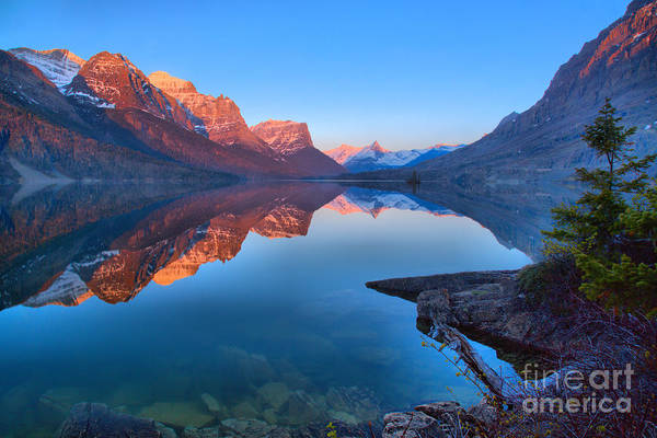 Photograph - East Glacier St Mary Spring Sunrise by Adam Jewell