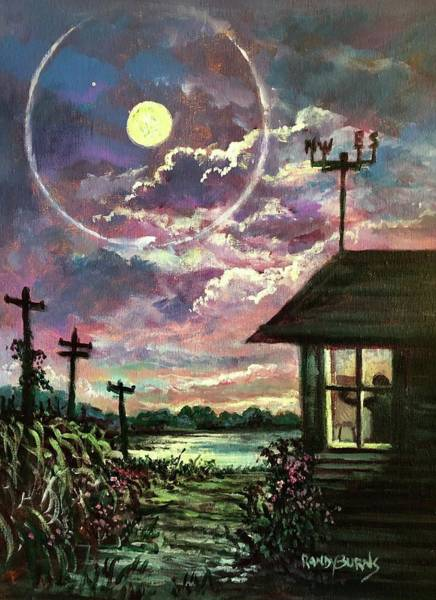 Painting - East Meets West.  Sun Meets Moon by Randy Burns