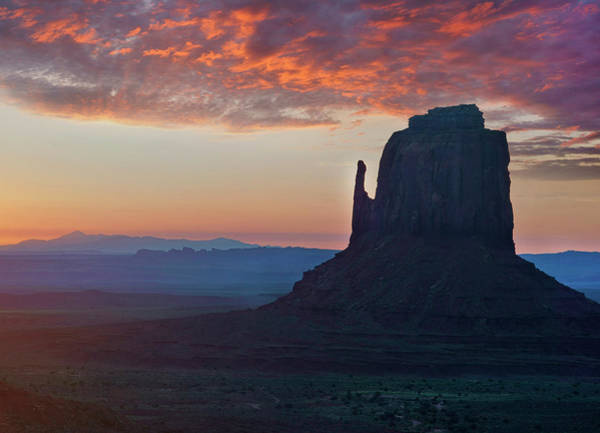 Photograph - East Mitten Butte At Sunrise, Monument by