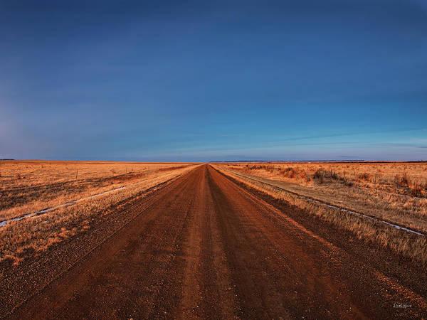 Dirt Roads Photograph - East Montana Road by Leland D Howard