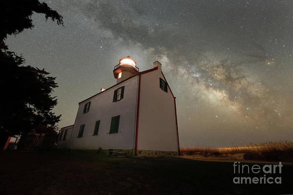 Photograph - East Point Lighthouse Under The Milky Way  by Michael Ver Sprill