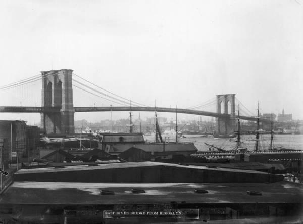 Warehouse Photograph - East River Bridge by P. L. Sperr